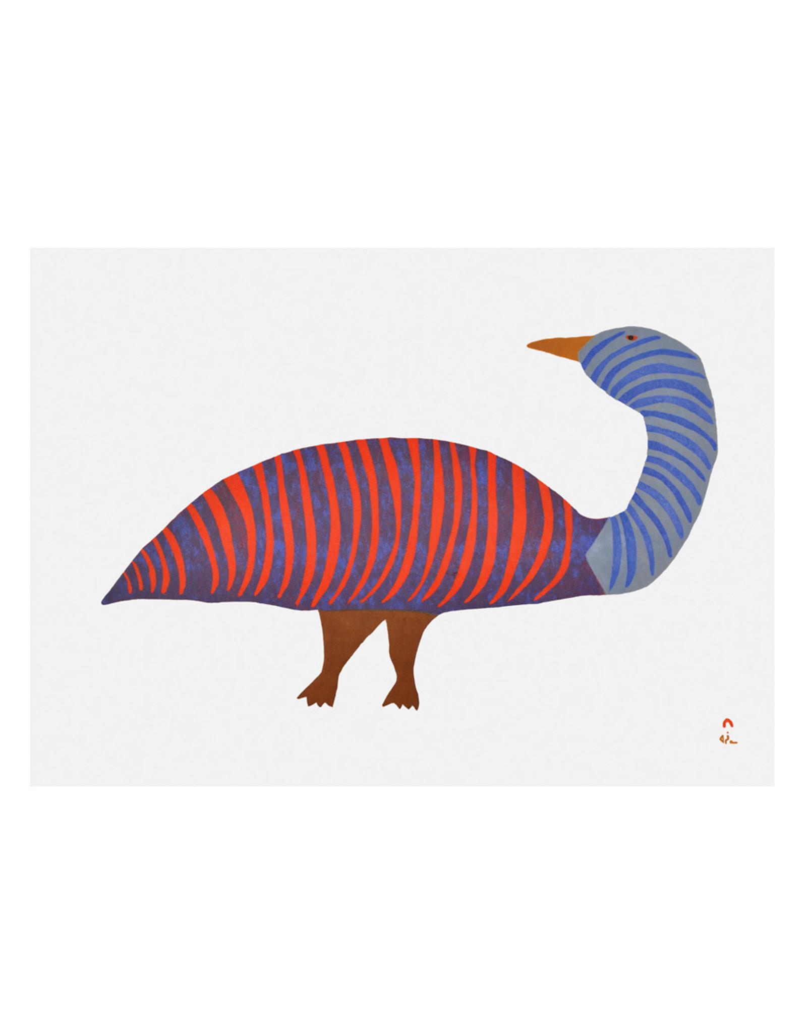 Cape Dorset Art Card: Striped Goose