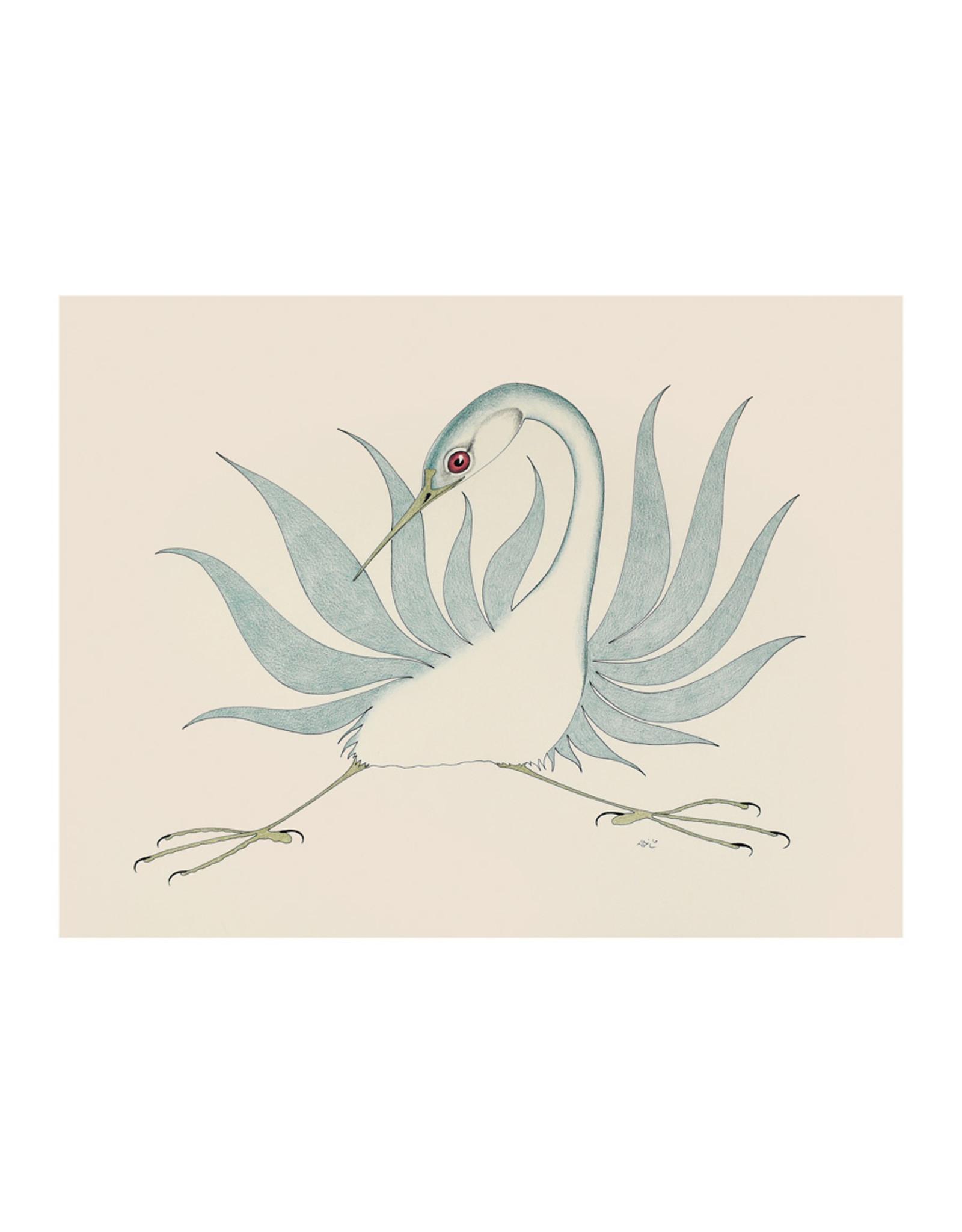 Cape Dorset Art Card: Untitled (Crane)