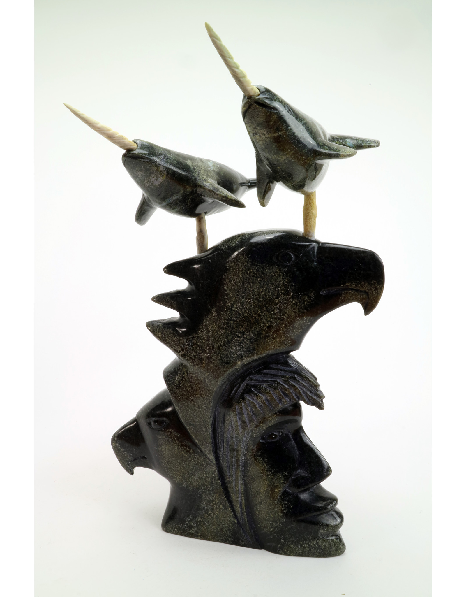 Cape Dorset Narwhales on heads