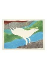 Cape Dorset Art Card: Tuktu Qakuqtaq / White Caribou