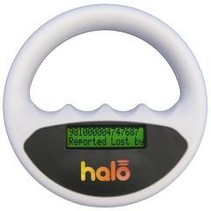 Halo microchip scanner wit