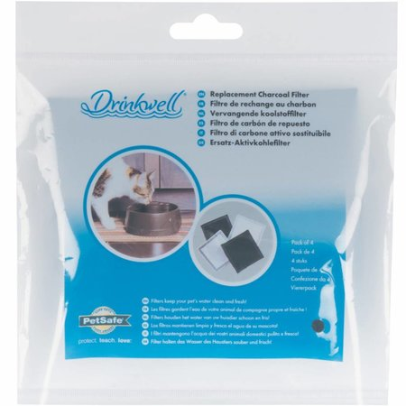Petsafe Drinkwell Current Fountain Replacement Charcoal Filters (4-Pack)
