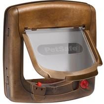 Staywell magnetisch Deluxe kattenluik 420 bruin