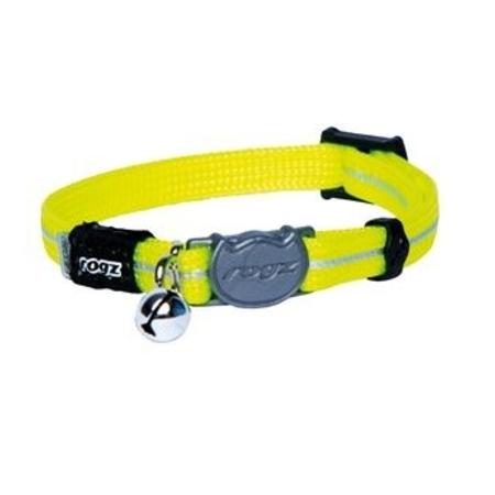 Rogz beltz AlleyCat Halsband  XS Dayglo yellow