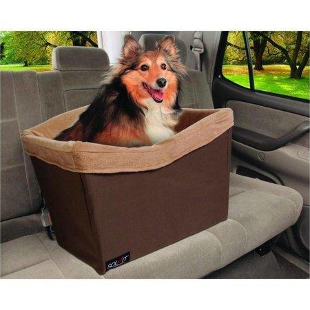 Happy Ride Gewatteerde hondenveiligheidszitje Bruin