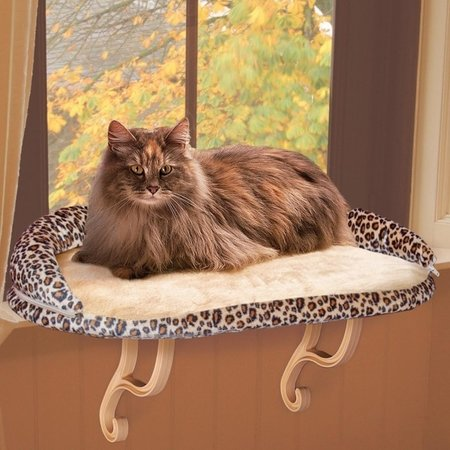 K&H Luxe Kattenligstoel voor de vensterbank  Leopard
