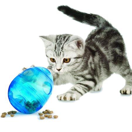 Funkitty Funkitty Egg-Cersizer Kattenspeeltje maak het voor je kat een uitdaging om te snacken.