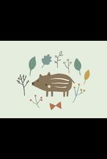Petit Monkey Postcard Baby Boar