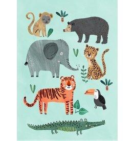 Petit Monkey Postcard Wild Animals