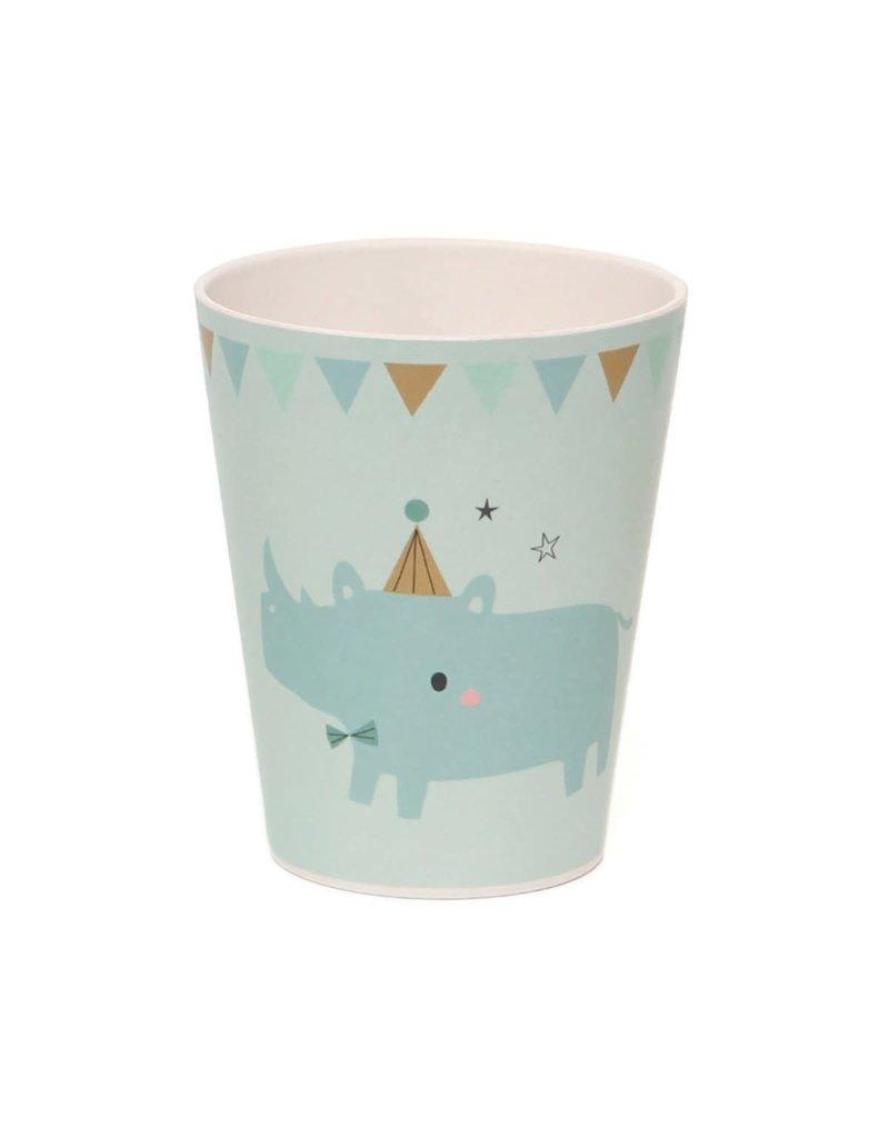 Petit Monkey Bamboo Cup Rhino Blue