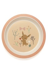 Petit Monkey Bamboo Plate Bunny