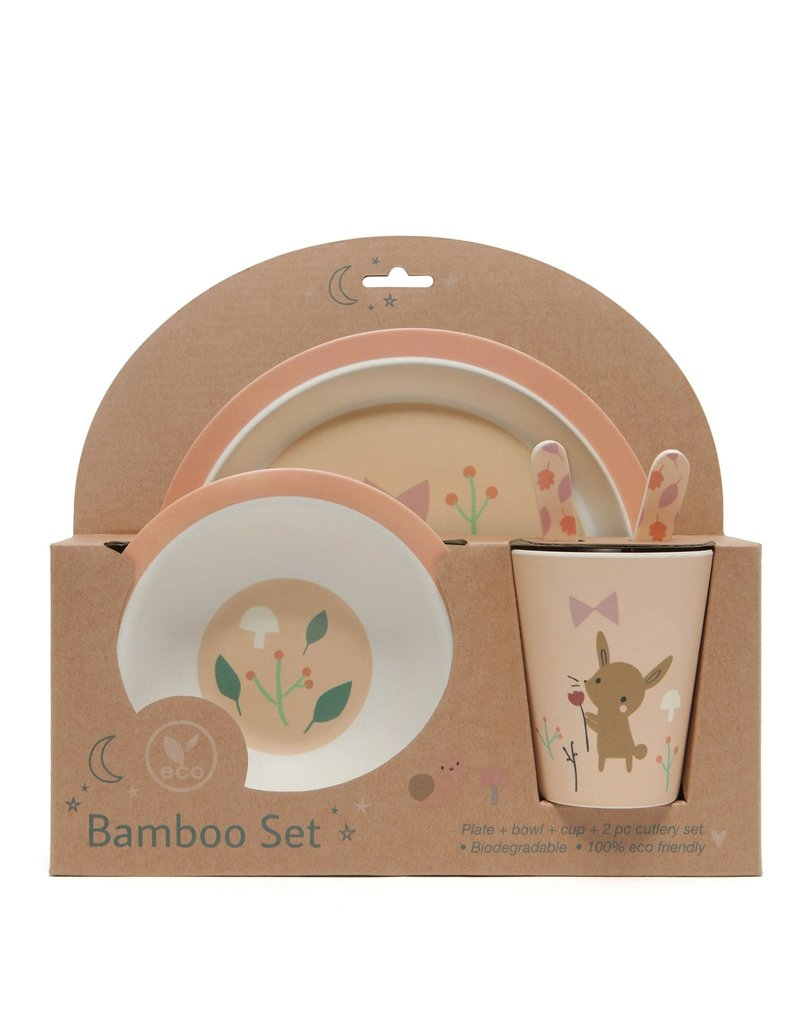 Petit Monkey Bamboo Bowl Bunny