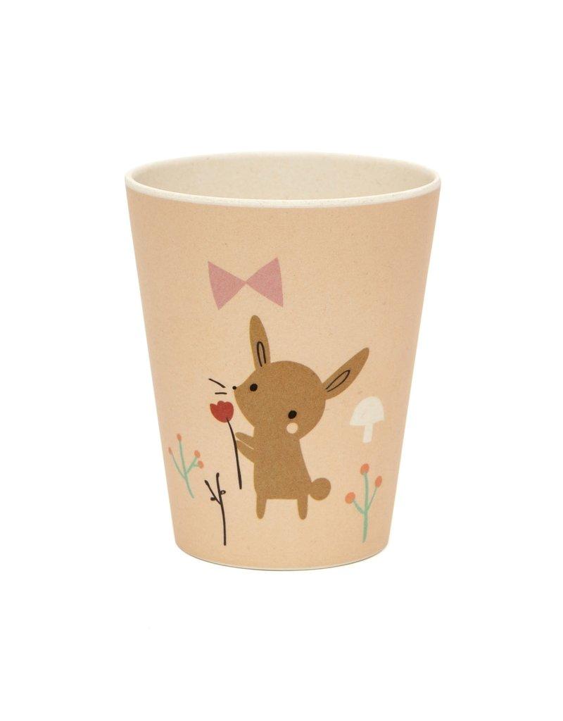 Petit Monkey Bamboo Cup Bunny