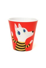 Petit Monkey Melamine Cup Red Wolf & Dog