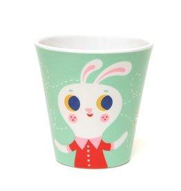 Petit Monkey Melamine Cup Mint Fox & Rabbit