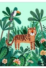 Petit Monkey Postcard Tiger and Toucan