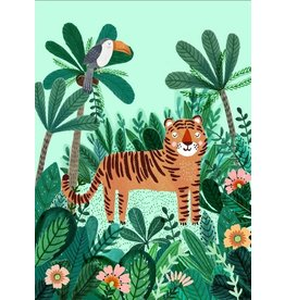 Petit Monkey Postcard Tiger and Toucan