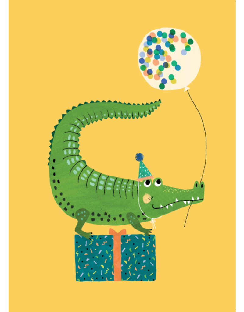 Petit Monkey Postcard Party Crocodile