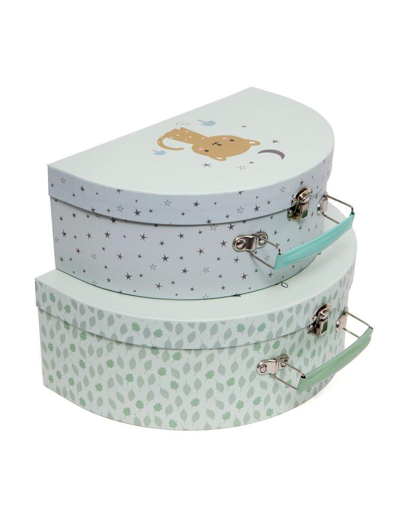 Petit Monkey Suitcase set baby boar