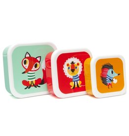 Petit Monkey Lunchbox set Animals
