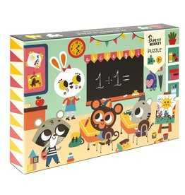 Petit Monkey At School Puzzle 24pcs 3 yrs+