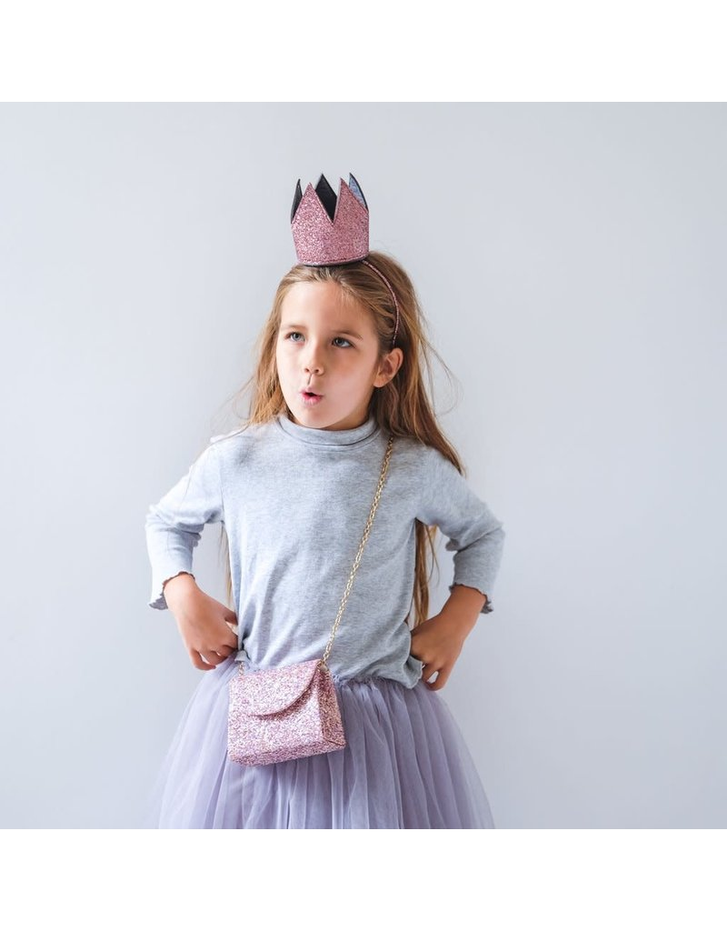 Mimi & Lula Glitter Crown Alice Pink