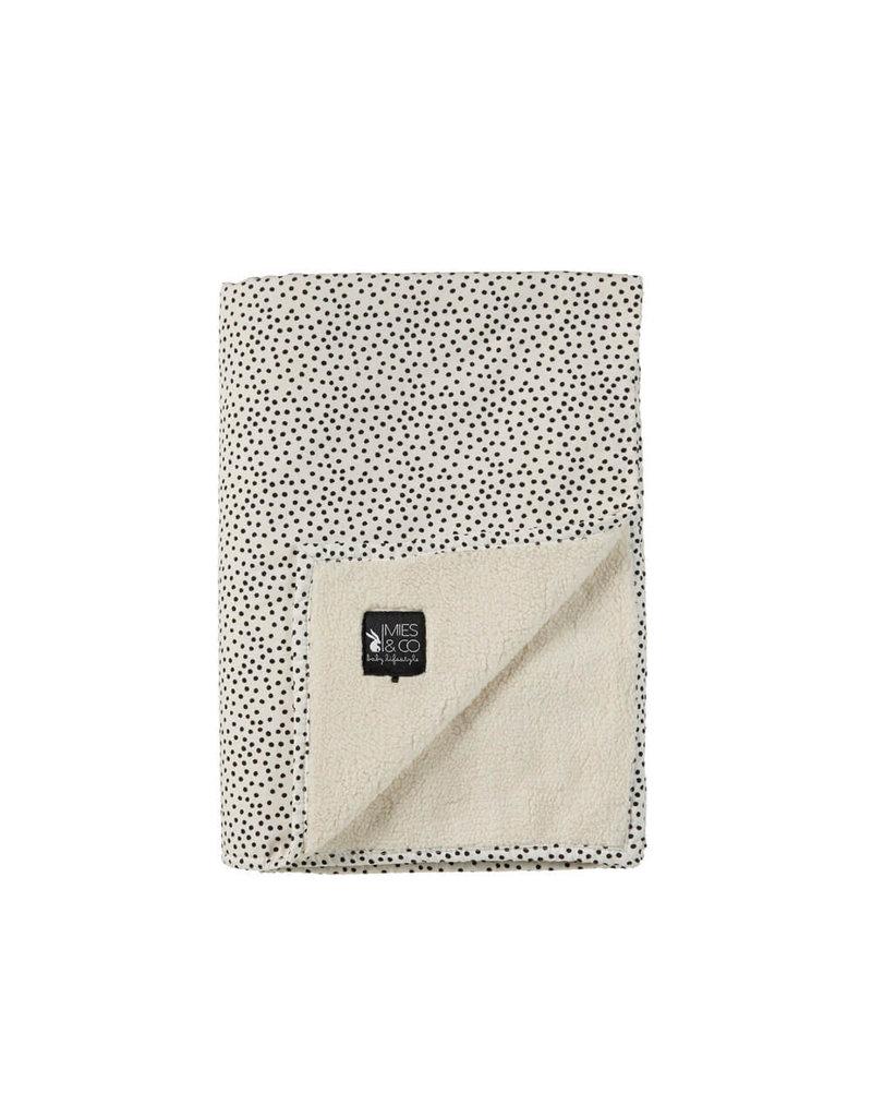 Mies & Co Teddy Cot Blanket Cozy Dots