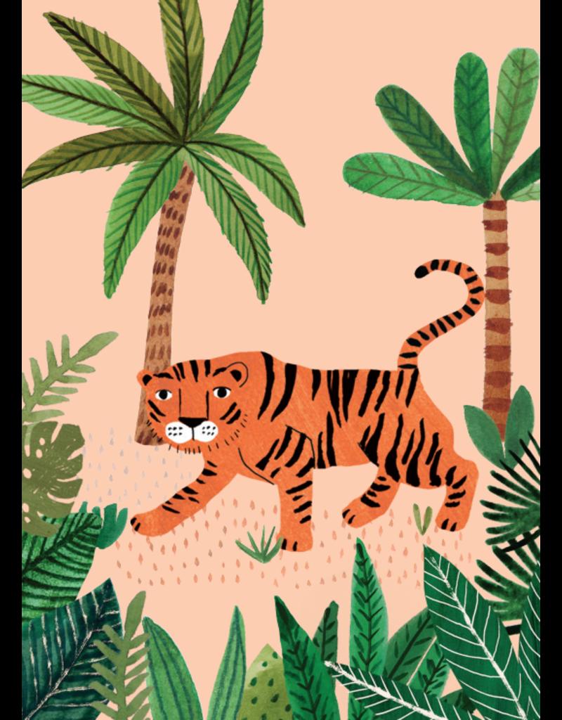 Petit Monkey Postcard Savannah Tiger