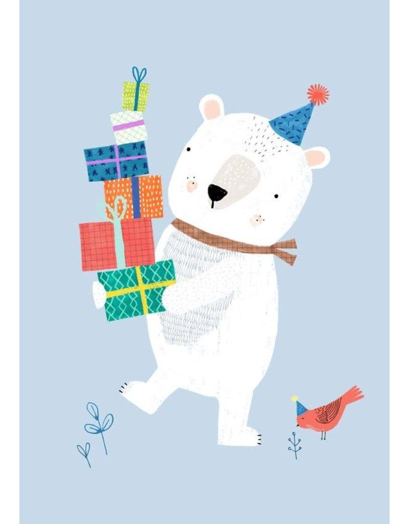Petit Monkey Postcard Polar Bear