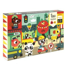 Petit Monkey In the city puzzle 48 pcs / 4 yrs+
