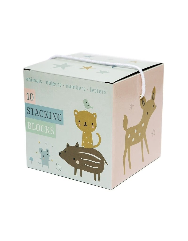 Petit Monkey Stacking Blocks Forest Friends