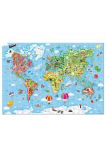 Janod Puzzel - Wereld Giant (300 Stukjes)