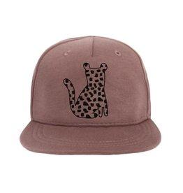 vanPauline Cap Leopard Spots Dark Pink