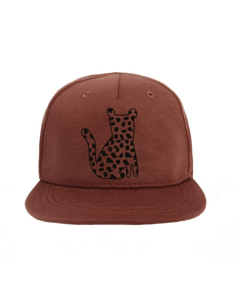 vanPauline Cap Leopard Spots Red