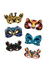 Janod Atelier - Kraskaarten dieren maskers