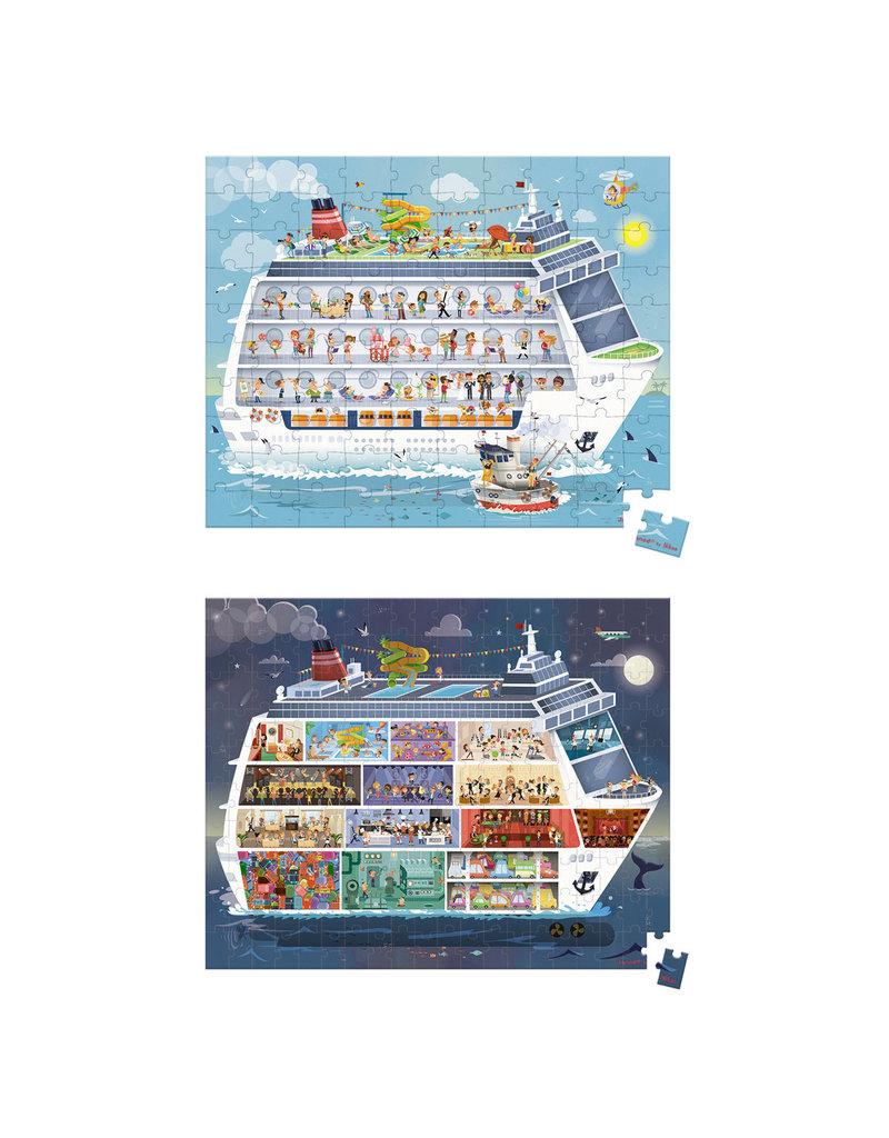 Janod Puzzel - Cruiseschip (100 & 200 stukjes)