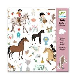 Djeco 160 Stickers Paarden