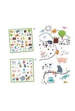 Djeco 160 Stickers Dieren