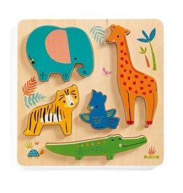 Djeco Houten Puzzel Jungledieren - Woodyjungle