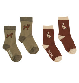 CarlijnQ Socks - SET of 2: Boris + Goose