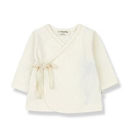 1+ in the family Babette newborn shirt ecru