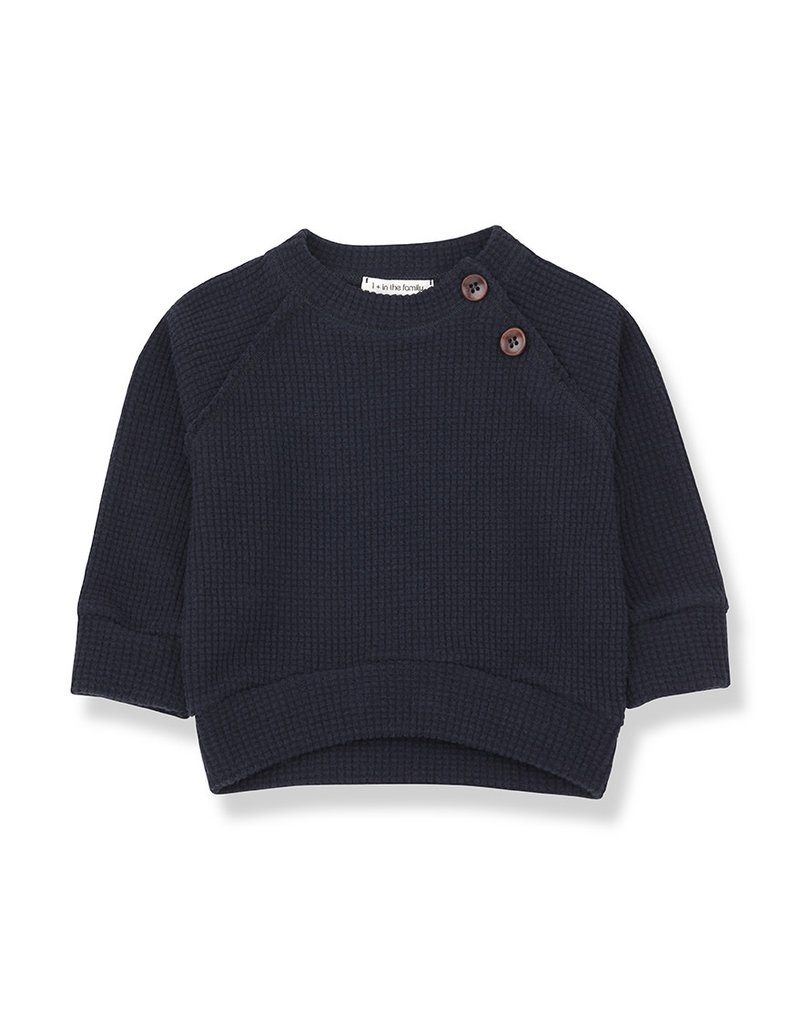 1+ in the family Livigno sweatshirt blue notte