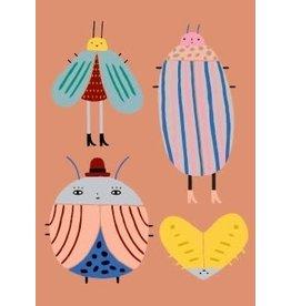 Petit Monkey Postcard Best buggies tan