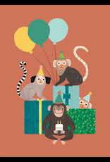 Petit Monkey Postcard the Monkey bunch