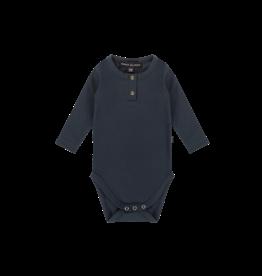House of Jamie Button Bodysuit Dark Blue