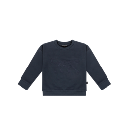 House of Jamie Crewneck Sweater Dark Blue Leo