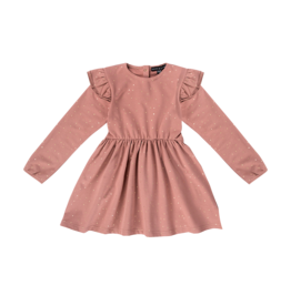 House of Jamie Dress Dusty Mauve Golden Dots