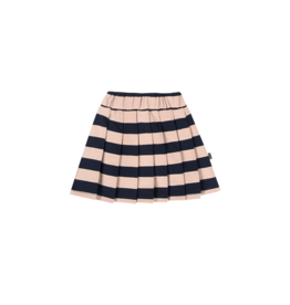 House of Jamie Pleated Skirt Biscuit & Blue Stripes