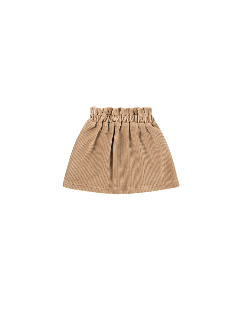 House of Jamie Paperbag Skirt Biscuit Rib Velvet