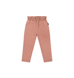 House of Jamie Paperbag Pants Dusty Mauve Golden Dots